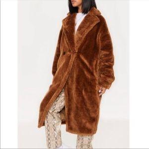 Pretty little thing faux fur jacket